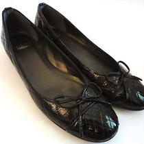 Sz 7n Stuart Weitzman Quilted Cap Bow Toe Ballet Flats Low Wedge Shoes Photo