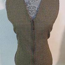 Sz 8 Brown Plaid Zip Up Alexander Campbell 959 Womens Indie Suit Vest Waistcoat Photo
