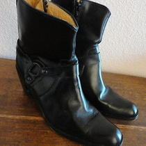 Sz 9 Frye Romy Ring 27960 Black Moto Short Harness Boots Photo