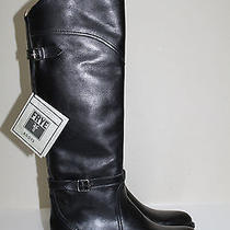Sz 9 Frye Vera Black Leather Pull on Dorado Riding Low Heel Knee High Boot Shoes Photo
