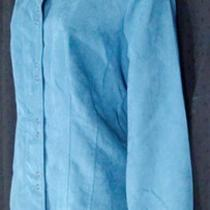 Sz L New Nwt Great Northwest Jacket Teal Blue Faux Suede Chamois Snap Buttons Photo