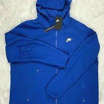 Sz L  Nike Sportswear Nsw Men's Tech Fleece Hoodie Royal Blue  928483-438 Photo