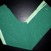 Sz M 8-10 29x31 Green White Nike Athletic Warm-Up Overpants 010 Photo