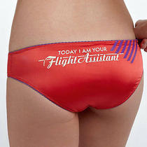 Sz M New Diesel Womens Low Rise Bikini Panty Red Flight Assistant Angelic 08 Photo