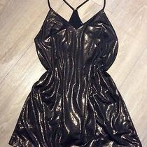 Sz Medium 12 / 14 Sparkle & Fade Bronze Urban Outfitters Party Dress Photo