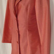 Sz S 6 Nwt New Alyn Paige 2 Pc Set Dress Jacket Peach Pink Mother of Bride Photo