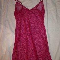 Sz S/m Victorias Secret Pink Leopard Mesh Teddy Slip Lingerie Intimate Stripper  Photo
