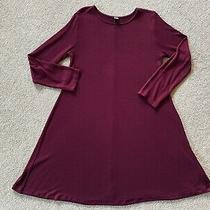 Sz S Old Navy Plush Knit Long-Sleeved Swing Dress in Wine Purple Photo