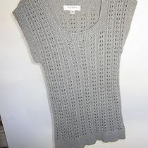 Sz Xs Light Grey Gray Cable Sweater Sleeveless Isaac Mizrahi  Photo