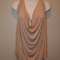 Sz Xs/s/0 Riller & Fount Tan Drape Neck Sleeveless Tank Top Blouse Photo