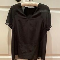 T Alexander Wang Black Silk Shirt Sleeves Size Xs Photo