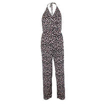 T-Bags Los Angeles New With Tags Braided Halter Jumpsuit Black/multi Photo