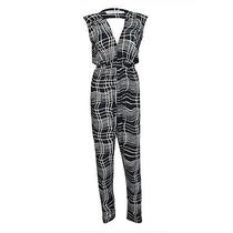 T-Bags Los Angeles New With Tags Jumpsuit With Back Cutout Black/white Photo