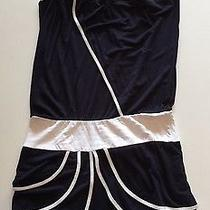 T-Bags Navy and White Dress Size Medium Photo