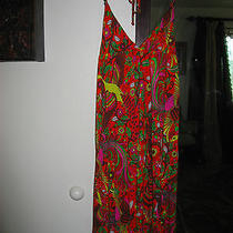 T Bags Orange Halter Dress Small S Photo
