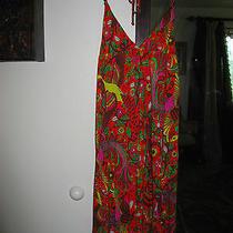 T Bags Orange Halter Dress Small S Photo