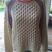 T by Alexander Wang Cable Knit Sweater Large  Photo