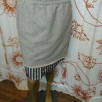 T by Alexander Wang Gray/navy Sweatshirt Midi Skirt W/ Underlay Size Xs Photo