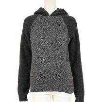 T by Alexander Wang Knit Parka Hooded Sweatshirt Gray Dark Gray Photo