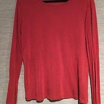 T by Alexander Wang Orange Long Sleeve Shirt Size Meduim Cotton Nylon Photo