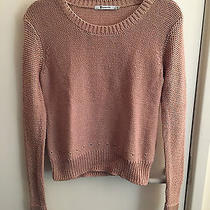 T by Alexander Wang Rose Gold Mocha Brown Knitwear Sweater Jumper Size Small Photo