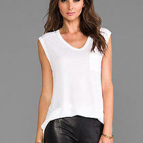 T by Alexander Wang White Top Muscle Tee T-Shirt Medium  Photo