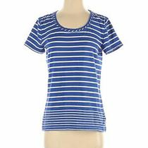 T by Talbots Women Blue Short Sleeve T-Shirt S Photo