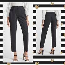 (T) Express 6 Small Black High Waist Ankle Dress Career Pants Slacks Photo