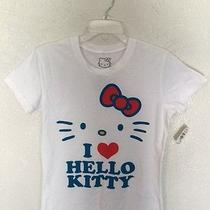 T-Shirt 100 % Cotton M Spring Summer Kids White Hello Kitty Neiman Marcus  Photo