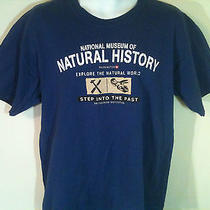 T-Shirt L 100% Cotton Blue  Pre-Shrunk - National Museum of Natural History Photo
