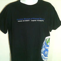 T-Shirt L 100% Cotton Dk Blue  Pre-Shrunk -American Museum of Natural History Photo