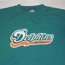 T-Shirt   Miami Dolphins Grey / Orange / Aqua Reebok Nfl Shirt Size 2xl Photo