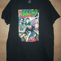 T Tee Shirt the Big Bang Theory Tv Show Comic Book Style Size L Large Bazinga Photo