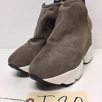 T20 New Jeffrey Campbell O Leary Gray Suede Sneaker Bootie Womens Size 9.5 Photo