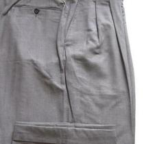 (T253) New Lanvin by Canali Super 120 Wool Medium Gray Pants - 38 X 31.5 Photo