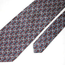 T6  Giorgio Armani Made in Italy Colorful Pattern High End All Silk Tie Photo