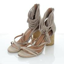 T8 125 Women's Sz 10 M Jeffrey Campbell Despina Suede Strappy Sandal in Taupe Photo