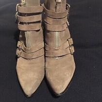Tabitha Simmons Christy Gray Suede Buckled Boots. Lightly Worn. Italy. Size 41 Photo