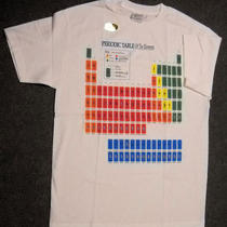 Table of Elements T-Shirt (White) - Large- Glows in Dark  .new in Package Photo