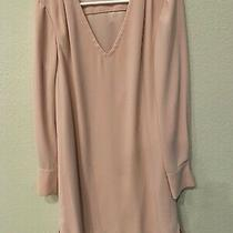 Tahari Asl - v-Neck Long Sleeve Dress - Size 8 - Pink Blush Med Photo