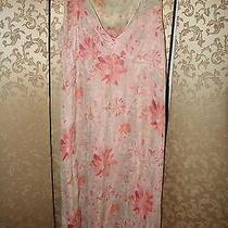 Tahari Nwt Blush Pink v-Neck Floral Silk Sleeveless Dress 10 Photo