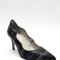 Tahari Womens Pointed Toe Black Leather Candela Pumps Heels Size 6.5 Photo