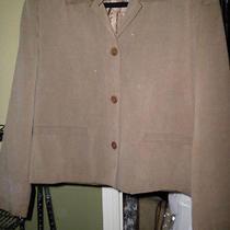 Talbot's Sz 4  Brown Pure Silk Textured Blazer Suit / Jacket  Photo