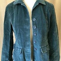 Talbot's Teal Corduroy Jacket Women Size 8 Petite Button Front Pockets Photo