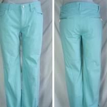 Talbots Aqua Colored Cropped Jeans Pants 8 Petite Women Super Cute Spring Summer Photo