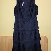 Talbots Beautiful Brand New Black Tiered  Dress Size 2  Photo