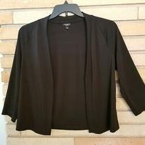 Talbots Black Blazer Shrug Size Medium M Photo