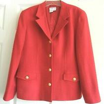 Talbots Blazer / Jacket / Wool / Us Made / S 14 / Holiday Red Photo