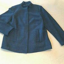 Talbots Blue Boucle Wool Blend Jacket Size Womens Plus 14 New Photo