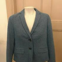 Talbots Blue Lined Long Sleeve Blazer Size 4 Petite Photo